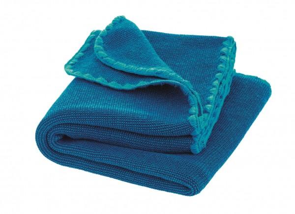 Melange-Babydecke, marine-blau, 100x80cm 1 Stadelmann Natur Online Shop