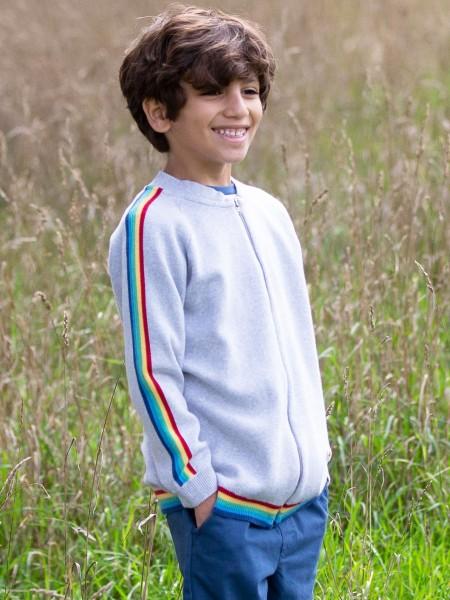 Tero Strickjacke grau mit Regenbogen von Kite Clothing 1