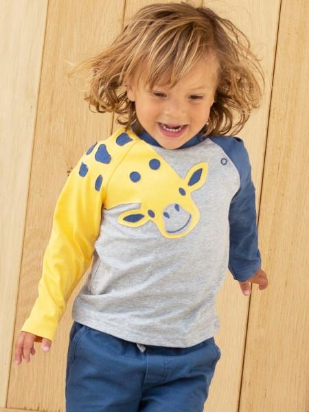 Langarmshirt mit Giraffen-Applikation von Kite Clothing 1
