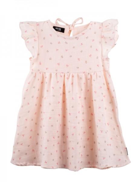 Musselin Kleid, peach blush, 100% Bio-Baumwolle, Stadelmann Natur