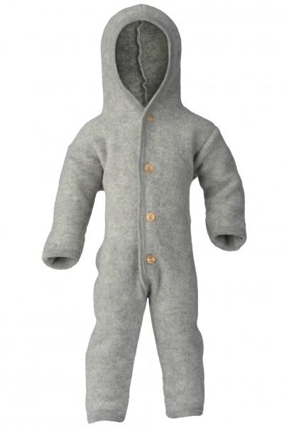 Baby WollfleecAe Overall, hellgrau melange 1 Stadelmann Natur Online Shop