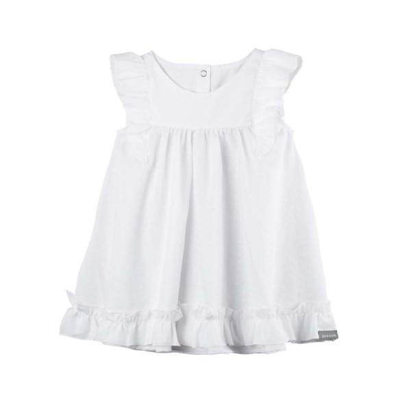 """Baby Kleidchen """"Rüschen"""", weiß 1 Stadelmann Natur Online Shop"""