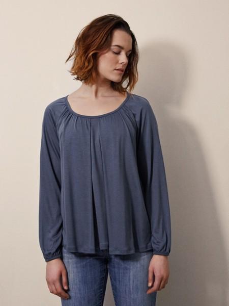 Bluse für Schwangerschaft und Stilltzeit, sea blue 1 Stadelmann Natur Online Shop