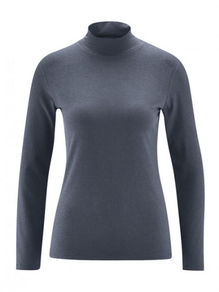 HempAge, Stehkragen-Shirt, graphit, Stadelmann Natur