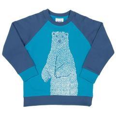 """Sweatshirt """"Eisbär"""", blau 1 Stadelmann Natur Online Shop"""
