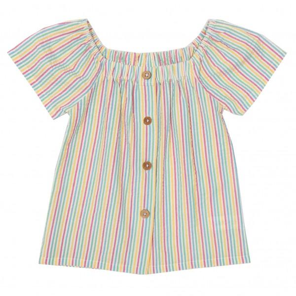 Gestreifte Bluse mit Kokosnussknöpfen von Kite Clothing vorn