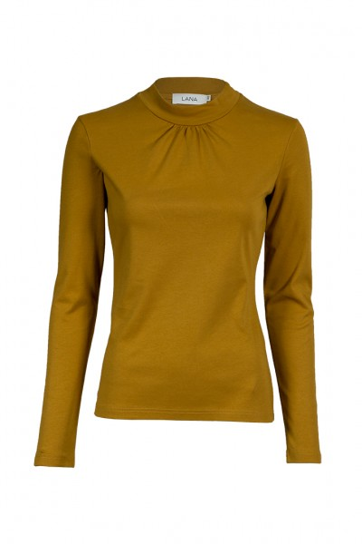 "Turtleneck ""Leonie"", golden green, Lana"