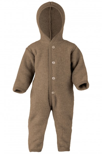 Baby Wollfleece Overall, walnuss melange Stadelmann Natur