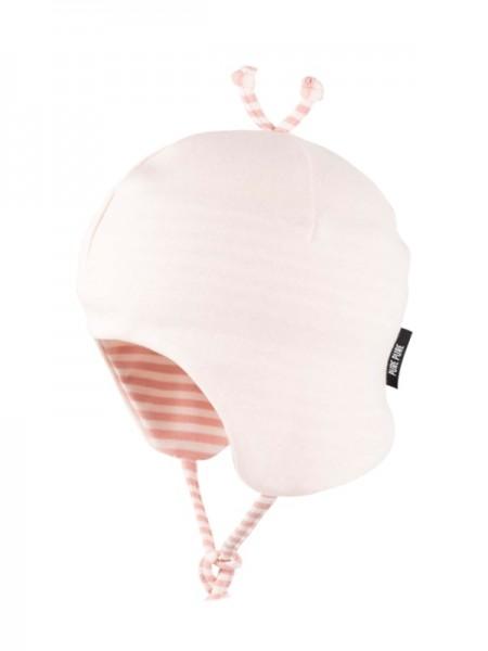 Baby Bindemütze aus 97% Bio-Baumwolle, peach blush