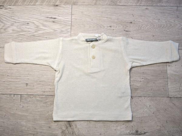 Alkena, Baby Knopfshirt Seide, langarm, natur, 1, Stadelmann Natur