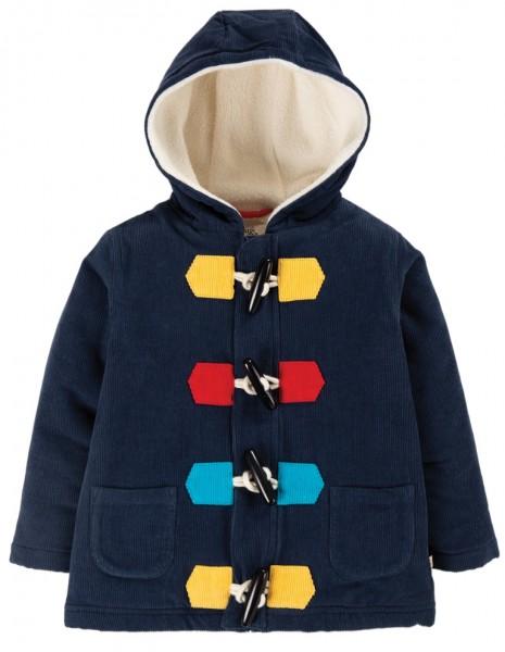 Kinder Cord Duffle Jacke, blau, Frugi, Stadelmann Natur