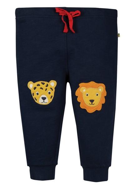 Hose mit Knieaufnähern, blau von Frugi 2