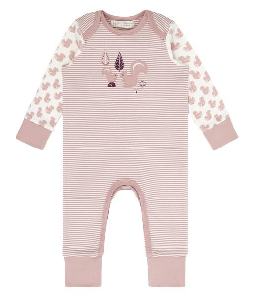 Baby Tag- und Nachtanzug, Squirrels/Stripes; 100% BioBaumwolle, Sense Organics