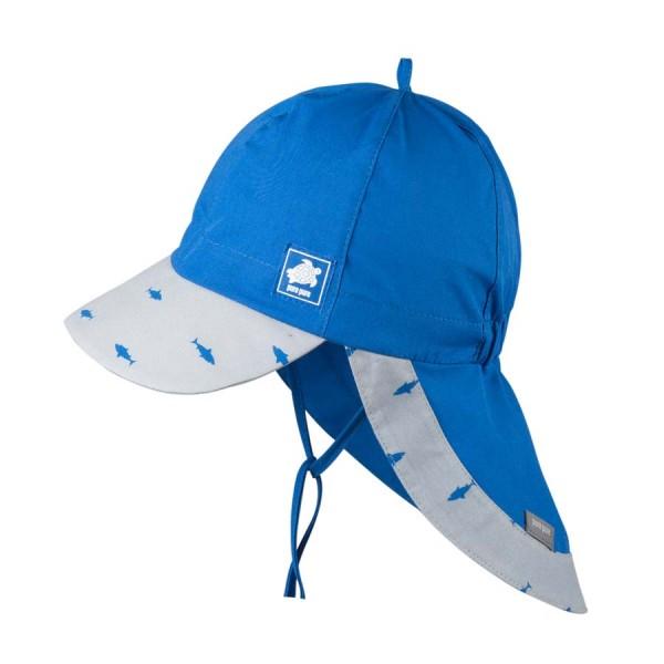 Sommermütze mit Nackenschutz, nautic-blue 1 Stadelmann Natur Online Shop