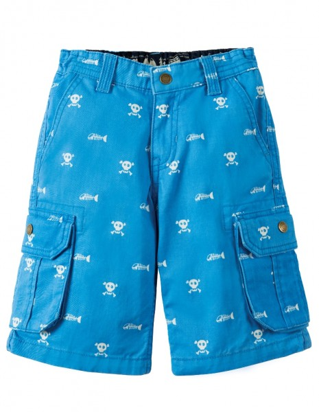 "Kindershort ""Skull and Bones"", hellblau 1"