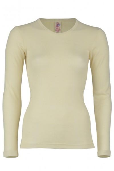 Unisex Unterhemd, langarm, natur 100% Schurwolle