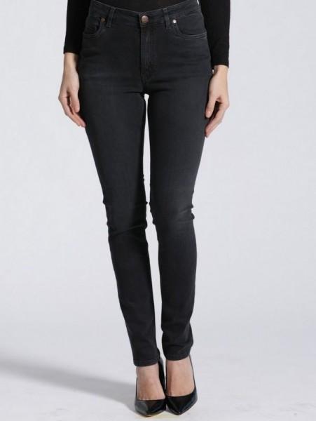 """HighWaist Jeans """"Hanna"""", Hyperflex, RavenBlack, Feuervogl"""