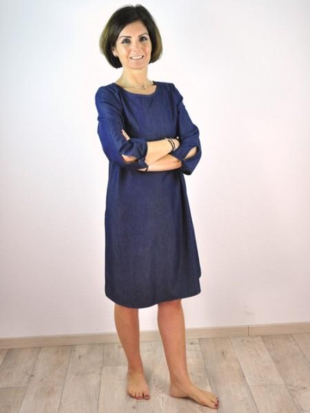 Kleid, dark denim 1 Stadelmann Natur Online Shop