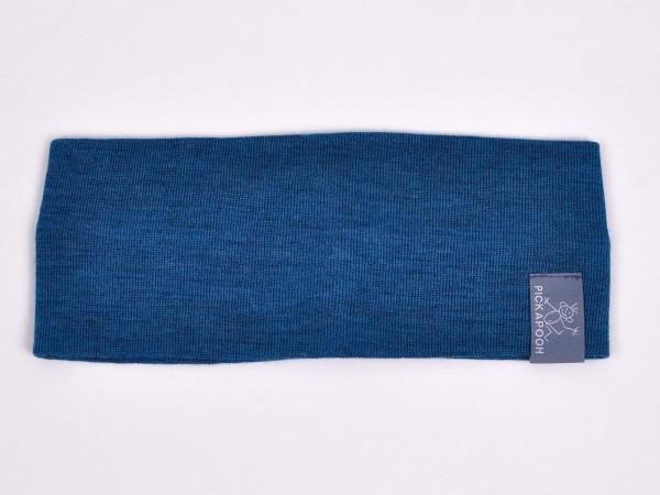 Stirnband aus Wolle und Seide, türkis von Pickapooh 1