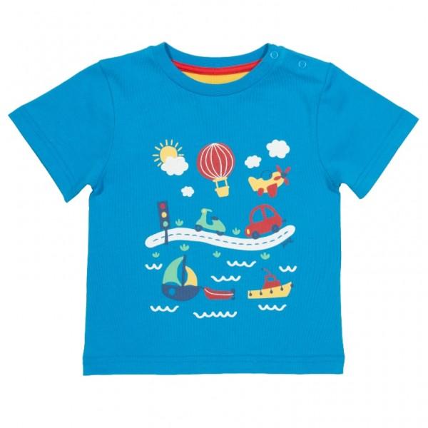 """T-Shirt """"go go go"""", blau"""