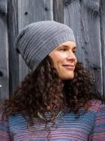 Damenmütze, quer gerippt, verschiedene Farben senfgelb