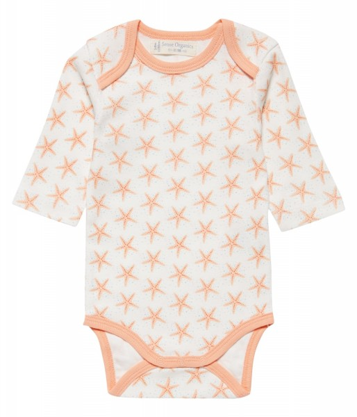 "Baby Langarm Body ""Seesterne"", lachs 1 Stadelmann Natur Online Shop"