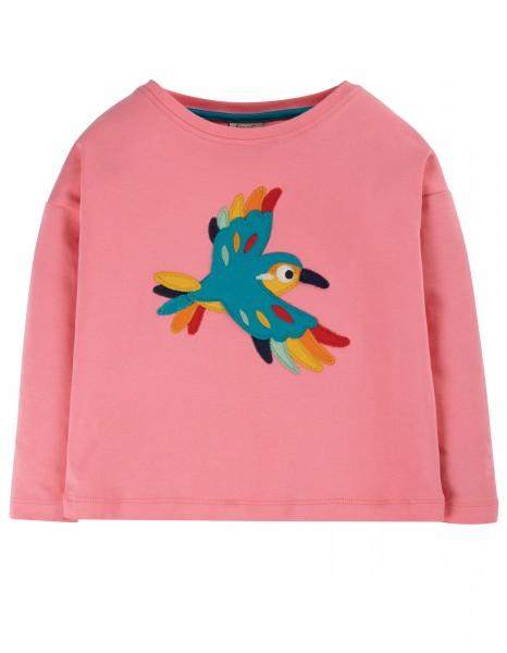 """Langarmshirt """"Vogel"""", guave/pink, Stadelmann Natur"""