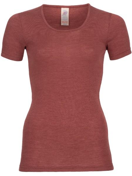 Frauen T-Shirt Feinripp kurzarm, olive von Engel