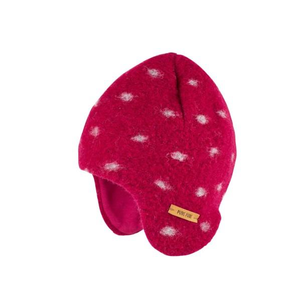 Warme Inka Mütze für Mädchen, himbeer bei Stadelmann Natur