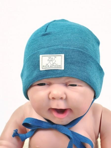 Baby Schlupper aus Wolle/Seide, türkis 1 Stadelmann Natur Online Shop