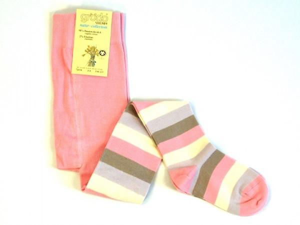 Strumpfhose rosa Streifen 1