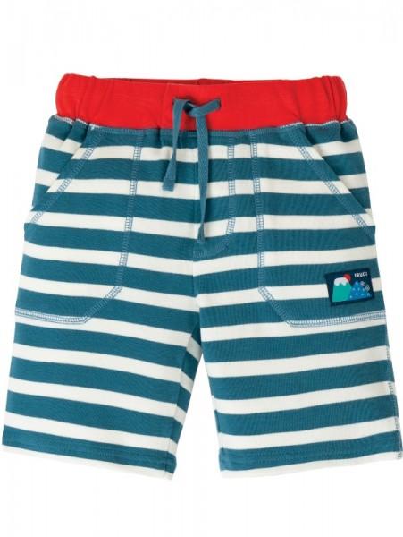 Jersey Shorts, blau/weiß gestreift, Frugi, Stadelmann Natur