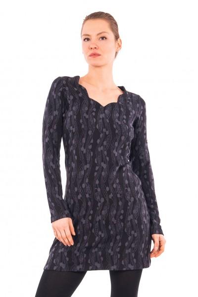 Kleid, black berry, 100% Baumwolle kbA, Stadelmann Natur