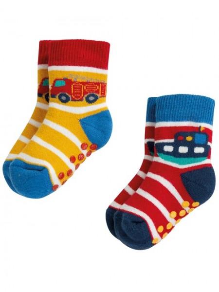 Griffige Socken, 2er Pack, bunt 1 Stadelmann Natur Online Shop