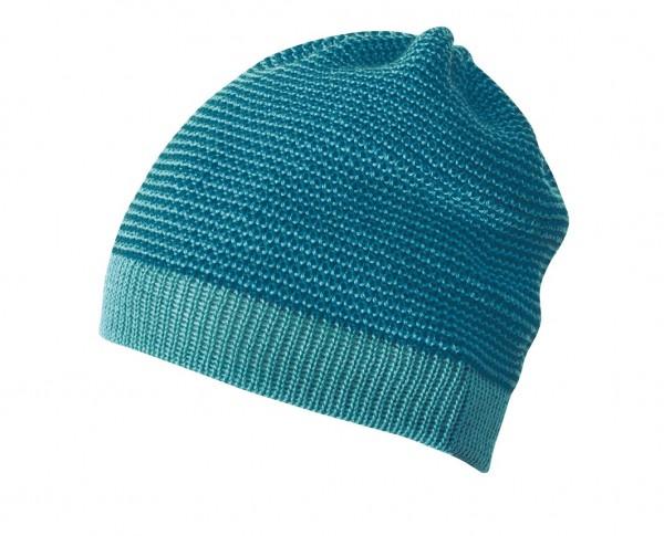 Melange-Beanie, lagoon-blau 1 Stadelmann Natur Online Shop