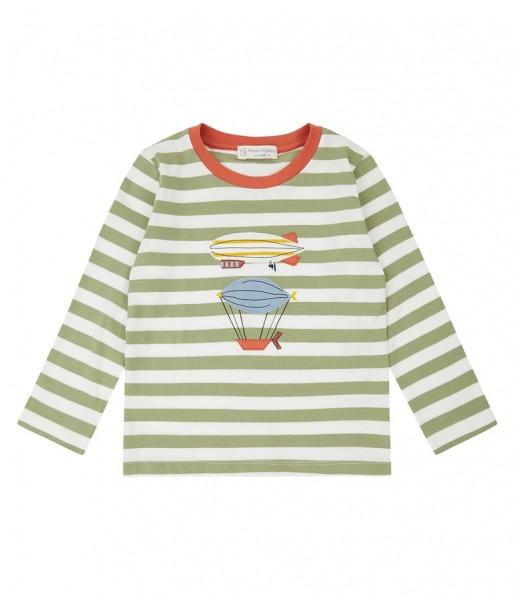 "Langarm Shirt ""Remo"", olive/weiß, Sense Organics"