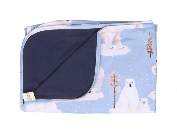 """Babydecke """"Eisbären"""", hellblau von Walkiddy 1"""