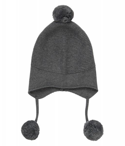 """Baby Strickmütze """"Marcel"""", dark grey aus 100% Baumwolle kbA, Sence Organics"""