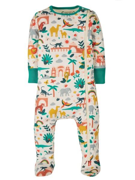 Baby-Schlafanzug / Body, Indisches Muster von Frugi 1
