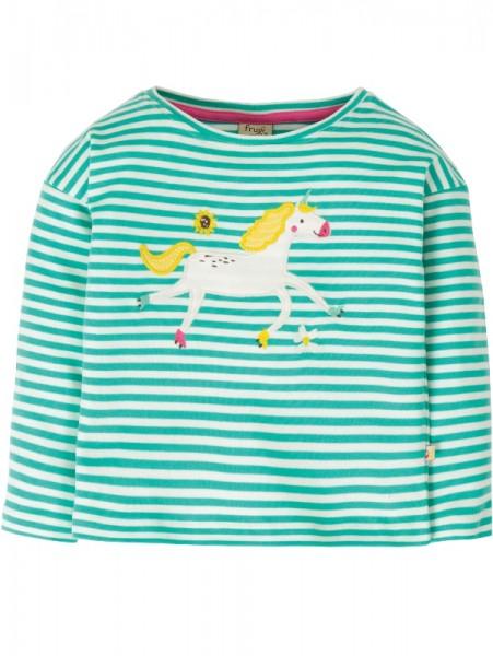 Kuschelweiches Langarmshirt für Mädchen mit Applikation aus 100% Bio-Baumwolle