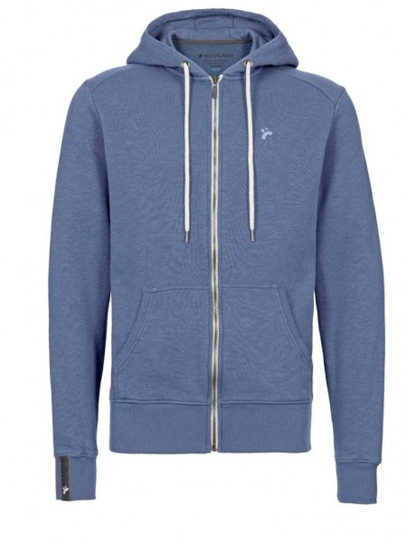 Fair trade Männer Sweatjacke Zipper, denim blue 1 Stadelmann Natur Online Shop