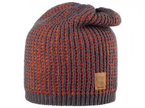 Kinder-Beanie, schiefer/orange 1 Stadelmann Natur Online Shop