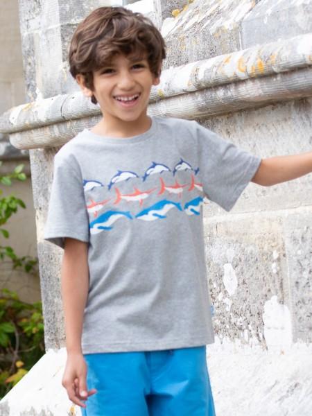 "T-Shirt ""Ozean"", grau von Kite Clothinhg"
