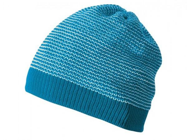 Melange-Beanie, blau/natur 1 Stadelmann Natur Online Shop