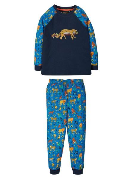 Frugi Schlafanzug Jamie Jim Jams Indigo Leopard 1