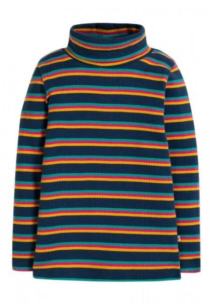 Rolli gerippt mit Streifen, blau/bunt 1 Stadelmann Natur Online Shop