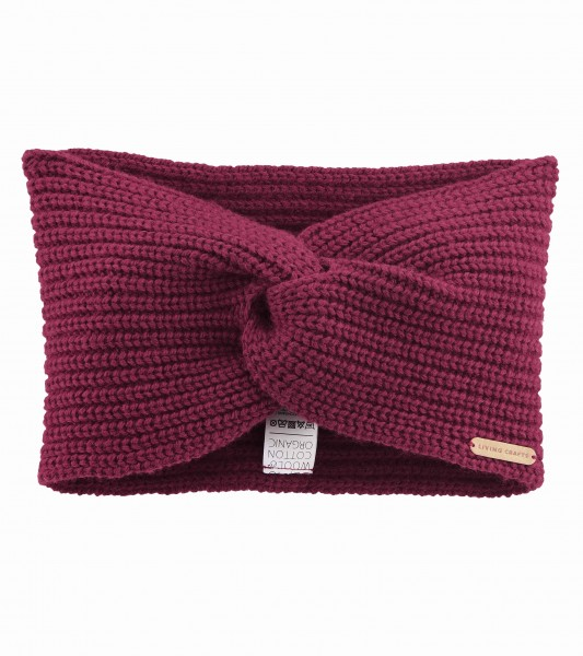 Wärmendes Stirnband aus Wolle und Baumwolle von Living Crafts