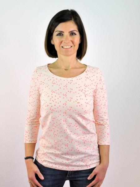 Shirt 3/4 Arm, rosé, Con_Stant, 95% Bio-Baumwolle
