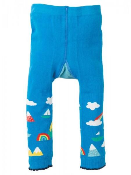 Fun Knitted Leggings, Bright Sky/Sun, Frugi,