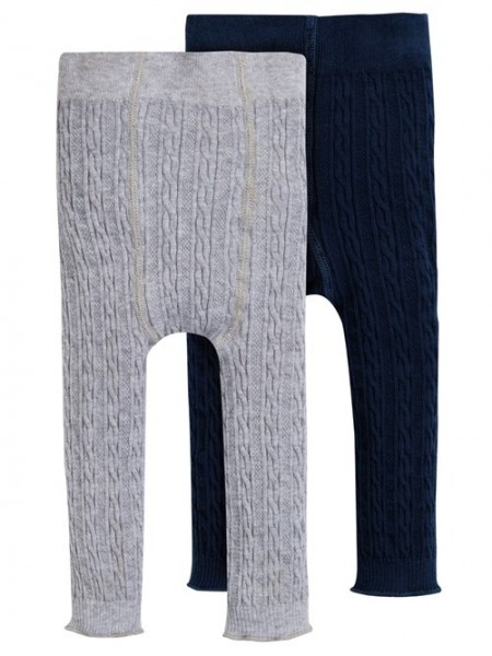 Strickleggings 2er Pack, blau und grau 1 Stadelmann Natur Online Shop